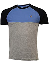 e9603d40b Brave Soul Mens Two Tone T Shirt Short Sleeved Circuit Top Crew Neck Summer  New