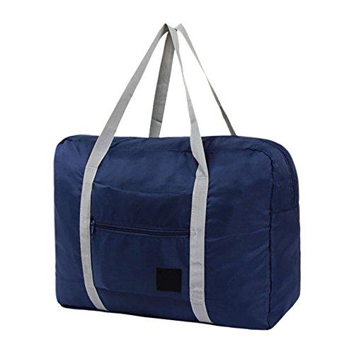 West See Duffle Bag Sporttaschen Reise-Gepäck Leicht Wasserdichte Reise Handtasche Faltbar Packbar Schulter Organizer Aufbewahrung Tragen Tasche Für Gym Sport Camping (Denkelblau) Denkelblau