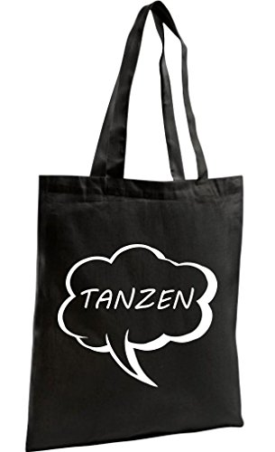 tanzen Bag Shopping Schwarz Shopper Shirtstown Sprechblase Zen Organic zYfw5qw