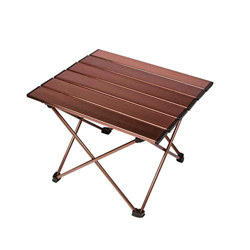 ANPI Aluminium Tragbarer Camping Tisch, Ultraleicht Zusammenklappbar mit Tragetasche, Roll up Klapptisch für Picknick, Camping, Wandern, Reisen, Angeln, Strand, Grill -