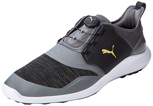 Puma Hombre Ignite Nxt Disc Zapatos de Golf, Negro (Quiet Shade Team Gold Black 02), 46 EU