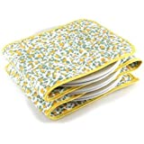 Hot Ideas Calentador de Platos Eléctrico - 12 Bayas de color Amarillo (Enchufe Eur)