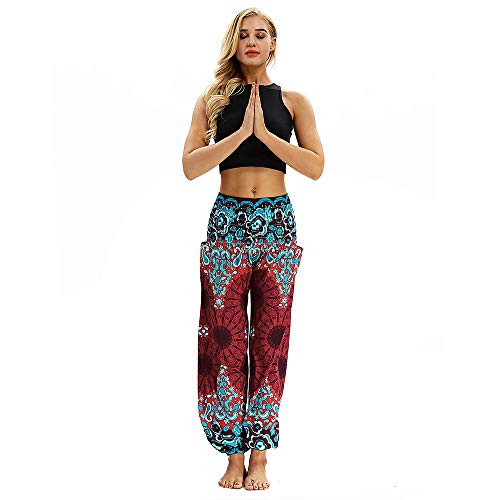 YWLINK 2018 Damen Kleidung,MäNner Frauen BeiläUfige Lose Hippie Yoga Hosen Baggy Boho Aladdin Haremshose