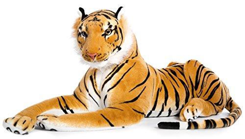 Plüschtier Tiger - liegend - braun - 90 cm