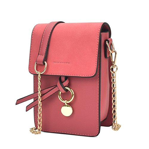 Yy.f Mini-Telefon-Beutel Neue Taschen Handtaschen Mode Kettenringbeutel Schulter Diagonal Wellenpaket Mehrfarbige Beutel Red