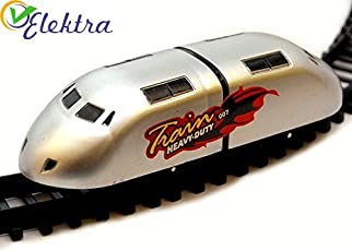 Elektra High Speed Metro with flyover Track Battery Operated Train for Kids (Silver)