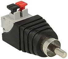 DeLOCK adaptateur 65566 Terminal Bloc avec bouton pression vers RCA mâle