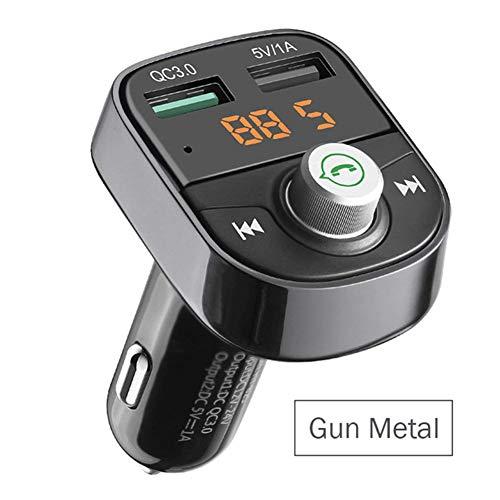OTO Zinklegierungsfallauto Bluetooth MP3, Schnellladung QC3.0, MP3-Player Bluetooth-Freisprecheinrichtung Bluetooth,Gunmetal