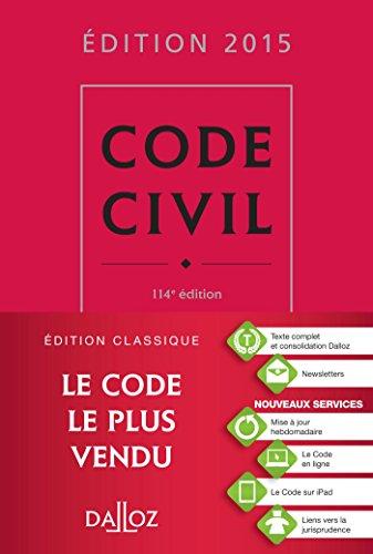 Code civil 2015 - 114 e d.
