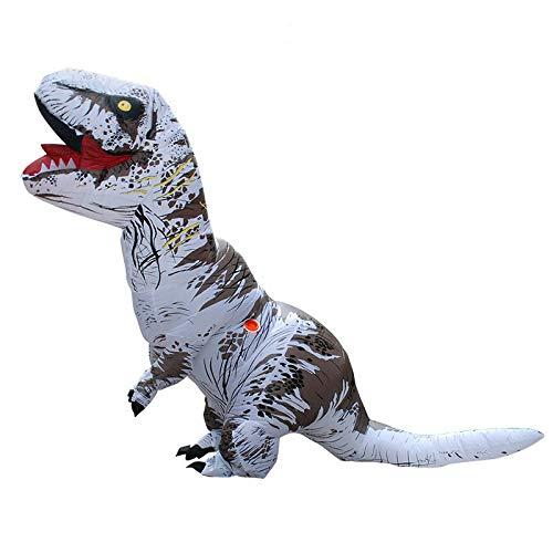 J.Sparking Halloween/Weihnachtsfeier Aufblasbare Kleidung Masquerade Spoof Cartoon Tyrannosaurus Terroristischen König Dragon Masquerade Cosplay Kostüm Erwachsene (Mehrere Optional),6