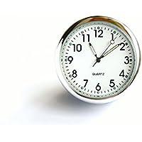 superzubehoer AT3 Salpicadero Coche Reloj Cuarzo Analógico Blanco