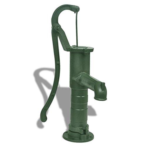 Festnight Schwengelpumpe Handschwengelpumpe Gartenpumpe Handpumpe Manuell Wasserpumpe + Ständer