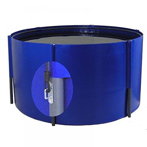 Pliable Bac 275 x 120 cm, 7 100 L, bleu, avec œillets, filet koibecken