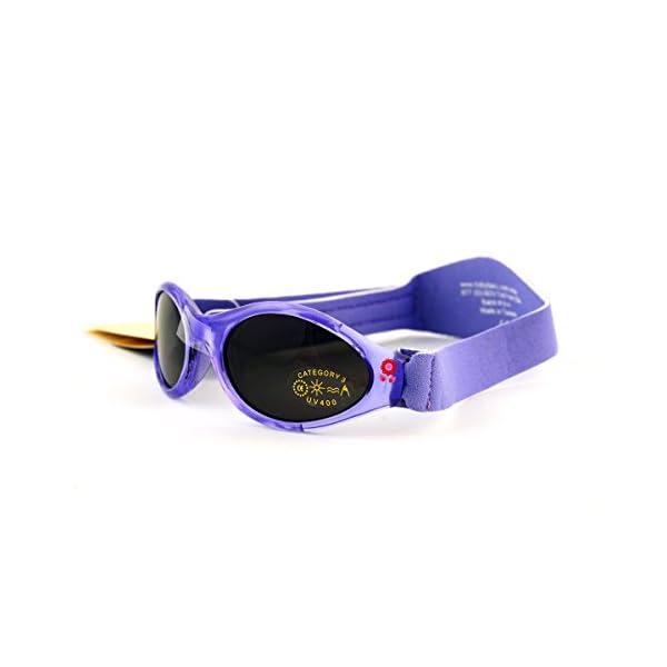 Baby Banz - Gafas de sol Ovaladas para niños, color Rosa (Lavender Tulip), talla 0-2 anos 3