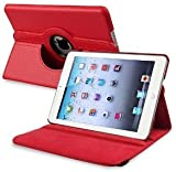 360 ROTATING FLIP LEATHER CASE COVER FOR THE NEW IPAD MINI (RED)