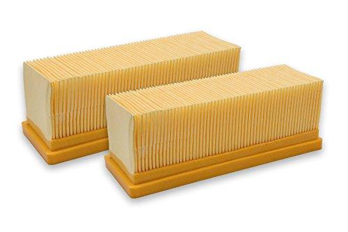 vhbw 2x Flachfaltenfilter Filter Mehrzwecksauger Kärcher A2701, A2731 pt, A2801, NT 181 Profi, SE 2001, SE 3001, SE5.100, SE6.100 plus wie 6.414-498.0