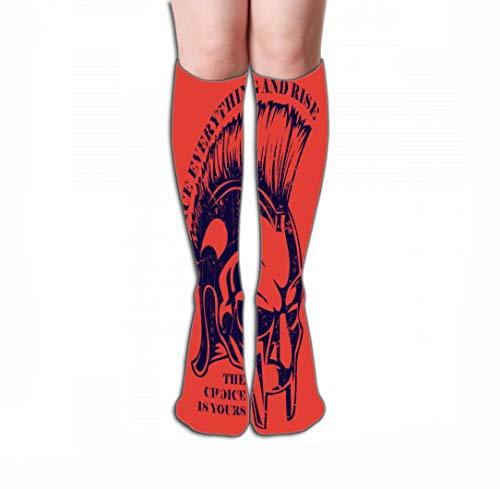 Xunulyn Hohe Socken Men Women Outdoor Sports High Socks Stocking Vikings Logo Graphic Design Easy to Manipulate re Size colorize Tile Length 19.7