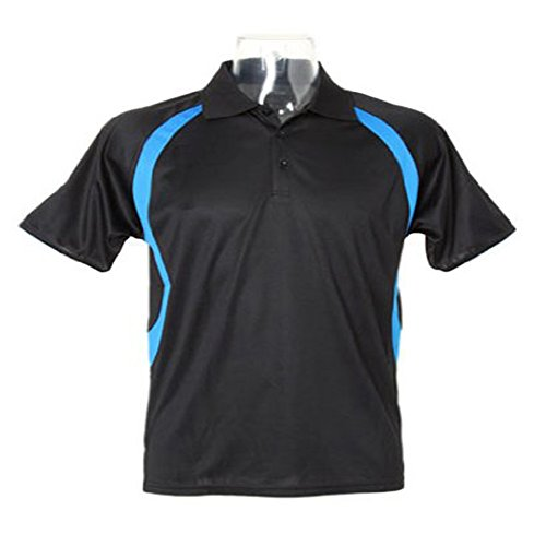 Gamegear Gamegear Cooltex riviera polo shirt Black/ Electric Blue