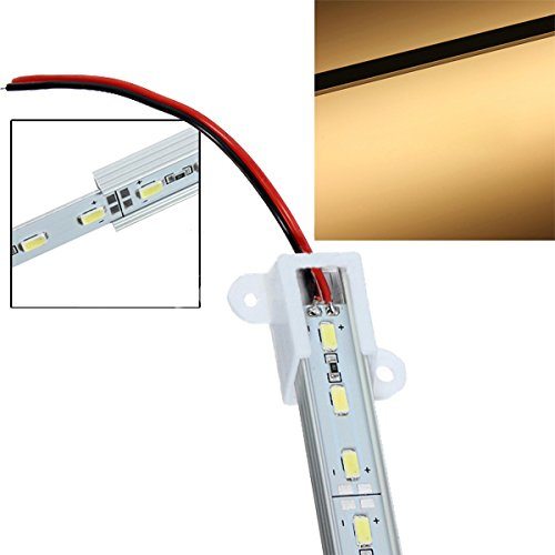 Sonline 50CM 5630 SMD 36 LED calda striscia rigida Bar Luce Bianco Alluminio