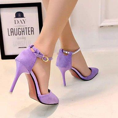 Moda Donna Sandali Sexy donna tacchi Primavera / Estate / Autunno abito tacchi / Casual Stiletto Heel Hook & Loop nero / viola a piedi Purple