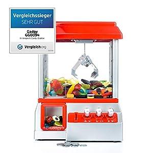 Gadgy ® Candy Grabber con Boton Silencio | Maquina de Garra | Juego de Dulces | Caramelo Grabber