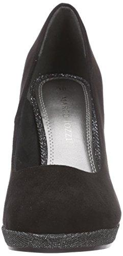 Marco Tozzi 22441, Chaussures à talons - Avant du pieds couvert femme Noir - Schwarz (BLACK COMB 098)