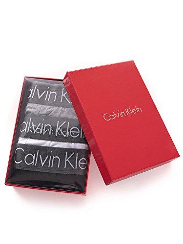 Calvin Klein da uomo 3 Pack Boxer Low Rise Trunks(XL, White,Black,Grey)