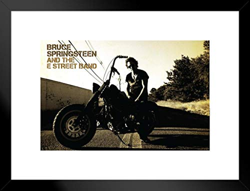 Pyramid America Bruce Springsteen Motorrad mattierte gerahmtes Poster 66x 50,8cm