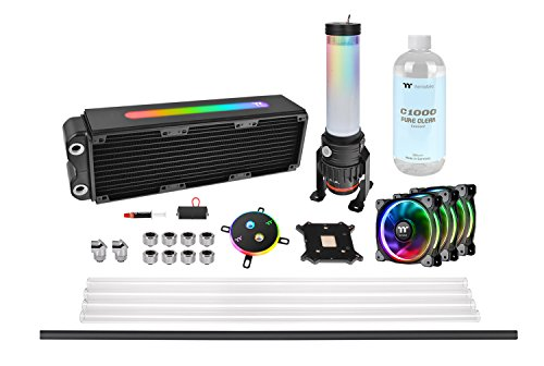 Thermaltake Pacific M360 Plus Hard Tube DIY Wasserkühlungs RGB Kit, schwarz