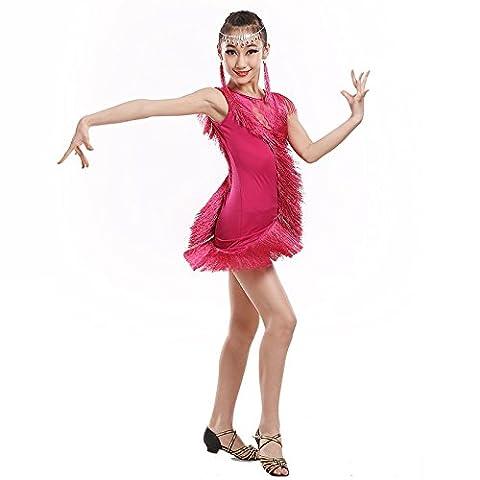 Saloon Fille Costume Violet - Dames latines danse enfants adultes costumes danse