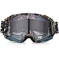 WENDAN EsquiandoMáscara de Casco de Motocicleta de Invierno Retro Esquí Motocross Gafas Gafas Moto de Nieve Máscara, D