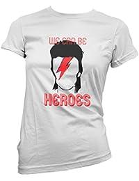"Camiseta Mujer David Bowie - ""We can be heroes"" - camiseta 100% algodon LaMAGLIERIA"