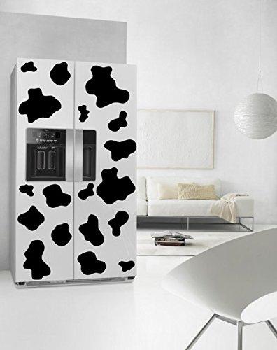 mucca-macchie-adesivi-per-frigorifero-o-pareti-impermeabile-nero-default-colour-black