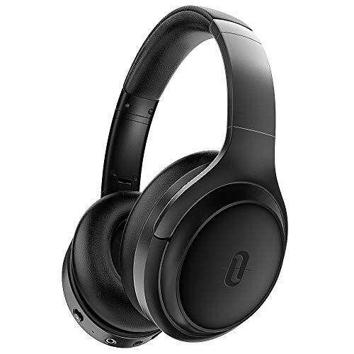 TaoTronics Active Noise Cancelling Bluetooth 5.0 Kopfhörer, Tiefer Bass mit CVC Geräuschunterdrückendes Mikrofon, 24 Std. Wiedergabedauer, Komfortable Ohrpolster für Reisen tragen [2019 Neuste] Active Bluetooth