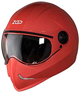 Steelbird SB-50 Adonis Zap Classic Full Face Helmet (Large 600 MM, Red with Plain Visor)