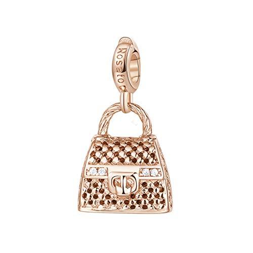 Rosato ciondolo charm a forma di hand bag in argento