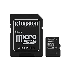 Samsung Galaxy Note GT-N7000 4GB Class 4 Kingston MicroSDHC MicroSD HC Memory Card For Mobile