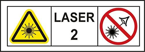 STABILA Kreuzlinien-Lot-Laser LAX 300 mit Zubehör // 1 Horizontal-Linie, 1 Vertikal-Linie, Lotpunkte nach oben und unten