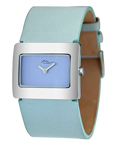 001 De Piel Reloj Esfera Mujer Azul Con Paris Supra Para M41642 Genuina AzulCorrea Moog NOwvm08ny