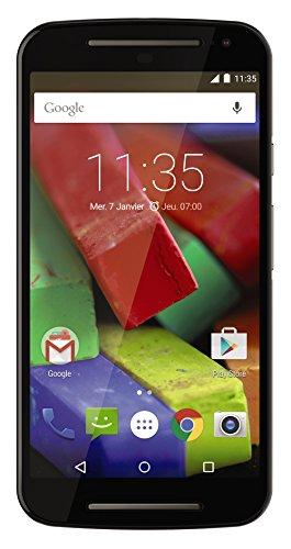 Motorola Moto G 4G (2 Generazione) Smartphone, Display 5 Pollici, LTE, Fotocamera 8 MP, Memoria 8 GB, Android 5 Lollipop, Nero [Francia]