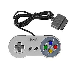 Eaxus®️ Controller für Super Nintendo – 1,5 m Gamepad für das Original SNES