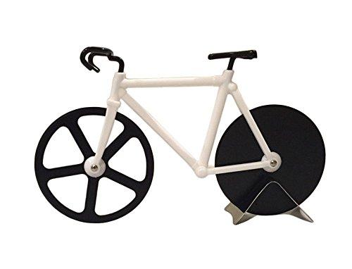 Esamconn® Pizza Cutter - per bicicletta Pizza Cutter Ruote, Casa e cucina in acciaio inossidabile strumento Ruote Cutter per la cucina, matrimonio, festa di compleanno o di Natale regalo & More(Nero /Bianco)