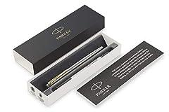 Idea Regalo - Parker Jotter Penna Roller in Acciaio Inox con Finiture in Oro, Confezione Regalo