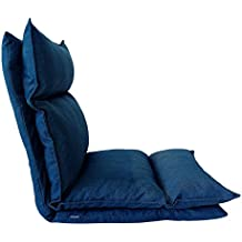 Rebecca Mobili Chaise De Mditation Fauteuil Yoga Bleu Jeans Mtal Polyester Lecture Relax Salon Terrasse