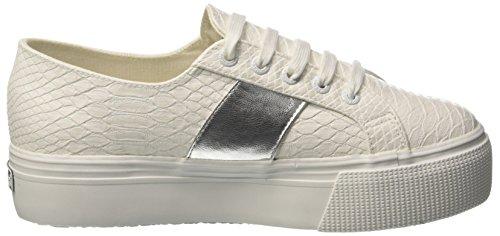 Superga 2790-Pusnakew, Sneaker Donna Bianco