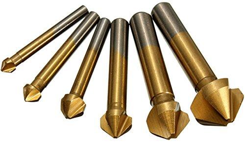 Malayas®3 Flute 90 Grad HSS Kegelsenker Satz Titan Beschichtet Senker Holz Metall Aluminium Senkbohrer 6.3-20.5mm