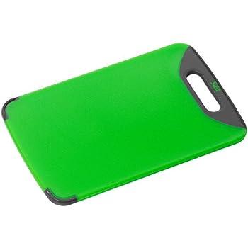 Silit Schneidebrett grün 32 x 20 cm rechteckig aus hochwertigem Kunsstoff mit praktischem Griff spülmaschinengeeignet leichte Reinigung hygienisch klingenschonend geschmacksneutral