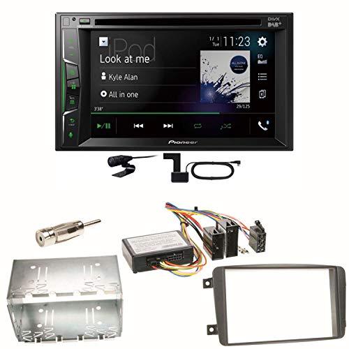 Pioneer AVH-A3200DAB USB Bluetooth Digitalradio DAB+ Autoradio Touchscreen Moniceiver Freisprecheinrichtung Weblink WAV Flac MP3 CD DVD Einbauset für Mercedes C-Klasse W203 CLK W208 W209