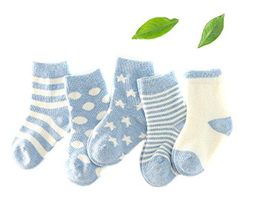 Crew Heavyweight Crew Socken (erioctry 5Stück Baby Kinder Sterne Streifen Baumwolle Socken Warm Dicke Socken (1-3Jahre))