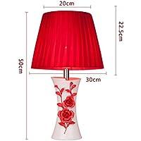 ZYCkeji Zart Tischlampe rote Lampe Schlafzimmer Nachttischlampe einfache Moderne kreative Mode Originalität (Farbe... preisvergleich bei billige-tabletten.eu